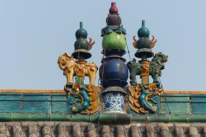 Chine-Détail toiture-Temple taoïste-Pingyao